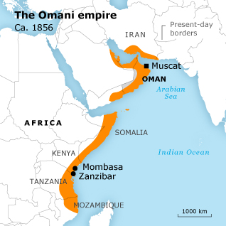 Oman Empire Map