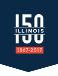 150 Illinois Sesquicentennial logo in flag